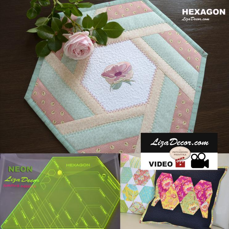Patchwork Lineal Hexagon