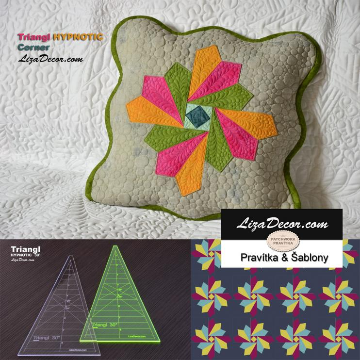 Patchwork lineal Triangl Hypnotic 9 inch