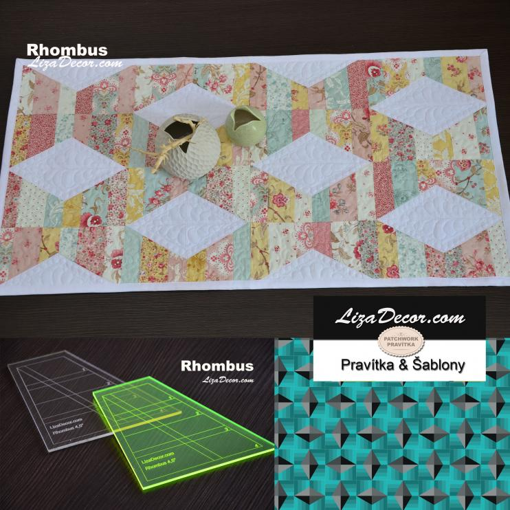 Patchwork template  Rhombus 4,5 inch