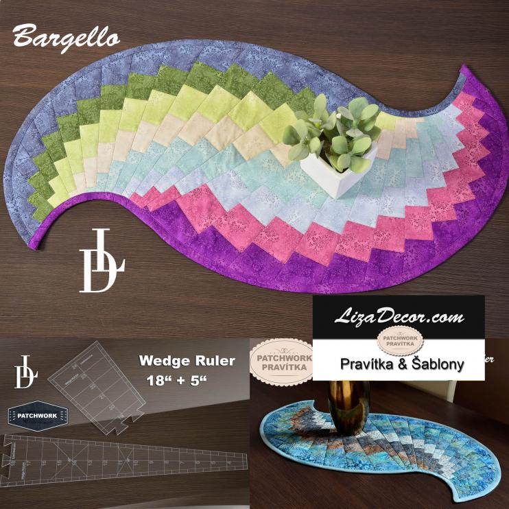 Patchwork Wedge Ruler Bargello